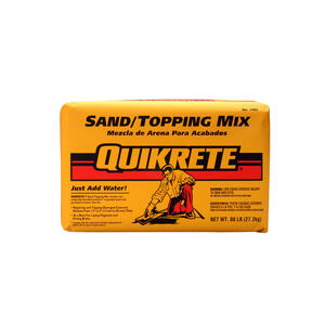 Quikrete  Gray  Sand/Topping Mix  60 lb.