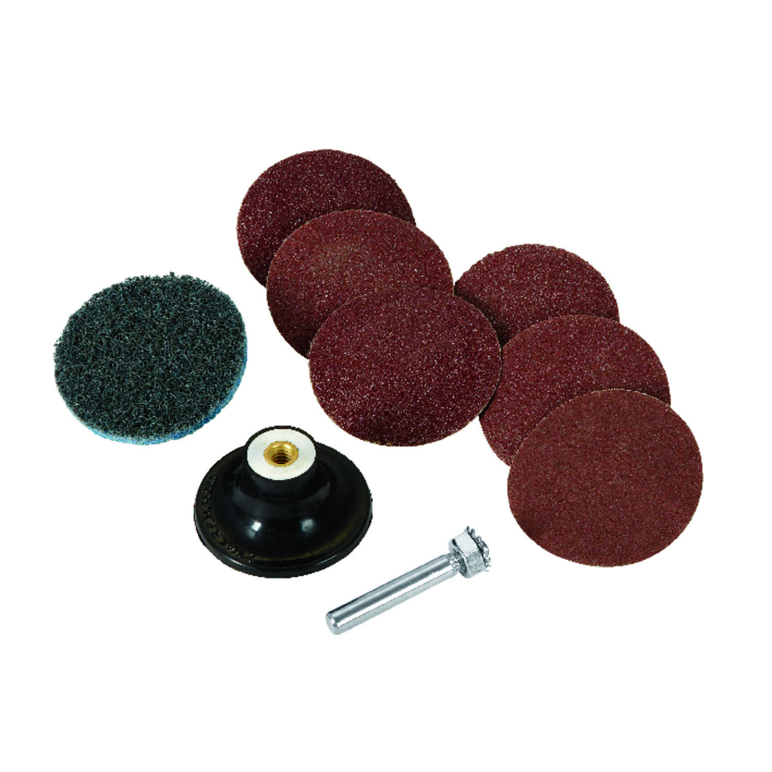 Craftsman  2 in. Aluminum Oxide  Hook and Lock  Sanding Disc  Assorted Grit Assorted  9 pk