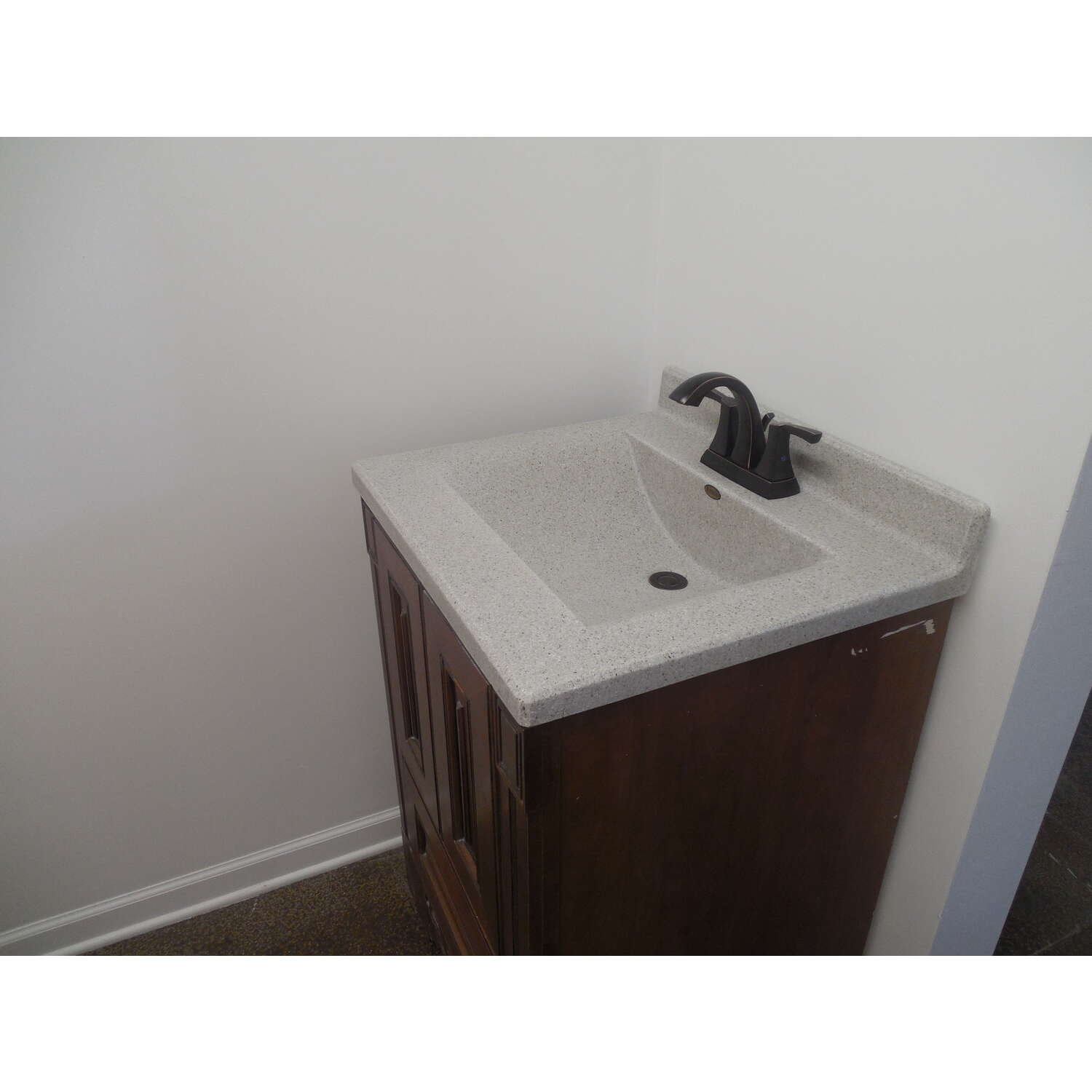 Imperial Marble  Single  Cappuccino  Vanity Top  25 in. W x 22 in. D