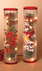 Gerson  Plug-In  Lighted Crackle Glass  Christmas Decoration