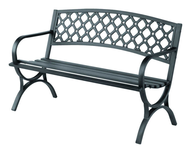 Living Accents  Park Bench  Steel  33.5 in. H x 23.4 in. D