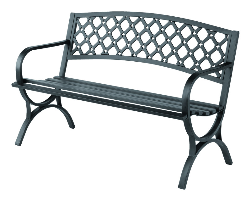 Living Accents Park Bench Steel 23.4 In. D X 33.5 In.