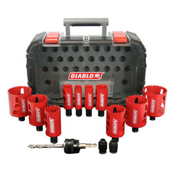 Diablo  2-3/8 in. L Bi-Metal  Hole Saw Kit  3/8 in. 14 pc.
