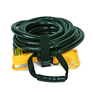 Camco  Power Grip  Outdoor  30 ft. L Black  Extension Cord  6/3 + 8/1 STW