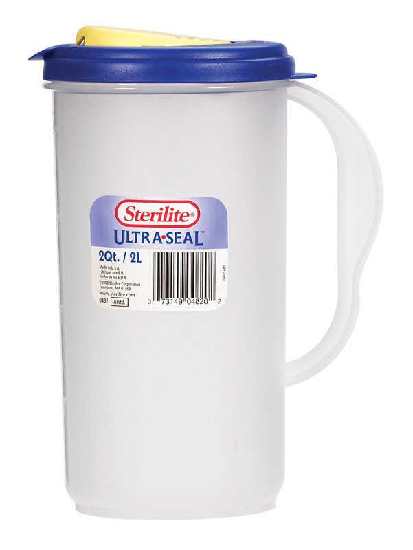 Sterilite  64 oz. Pitcher  Plastic  Clear