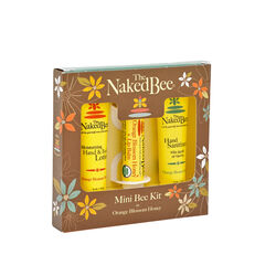 The Naked Bee  Mini Bee  Lip Balm and Lotion Kit  0.5 oz. 3 pk