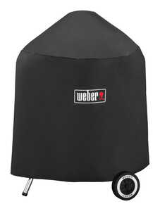 Weber  Black  Grill Cover  20.5 in. W x 20 in. D x 32.5 in. H For Fits 18 inch Weber charcoal grills