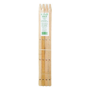 Madison Mill  24 in. H x 0.9 in. W Oak  Landscaping Stakes  4 pk