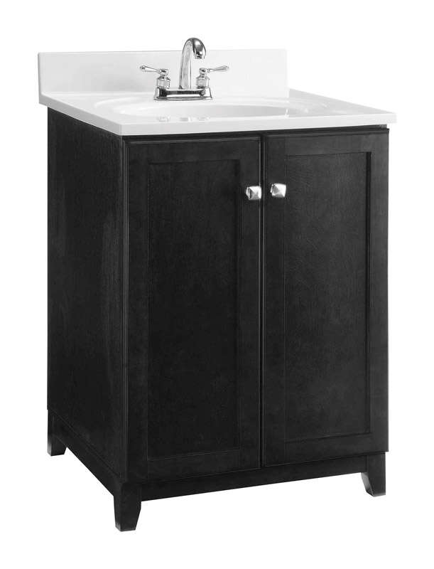 Design House Single Espresso Base Cabinet 24 in. W x 21 in. D x 33 in. H