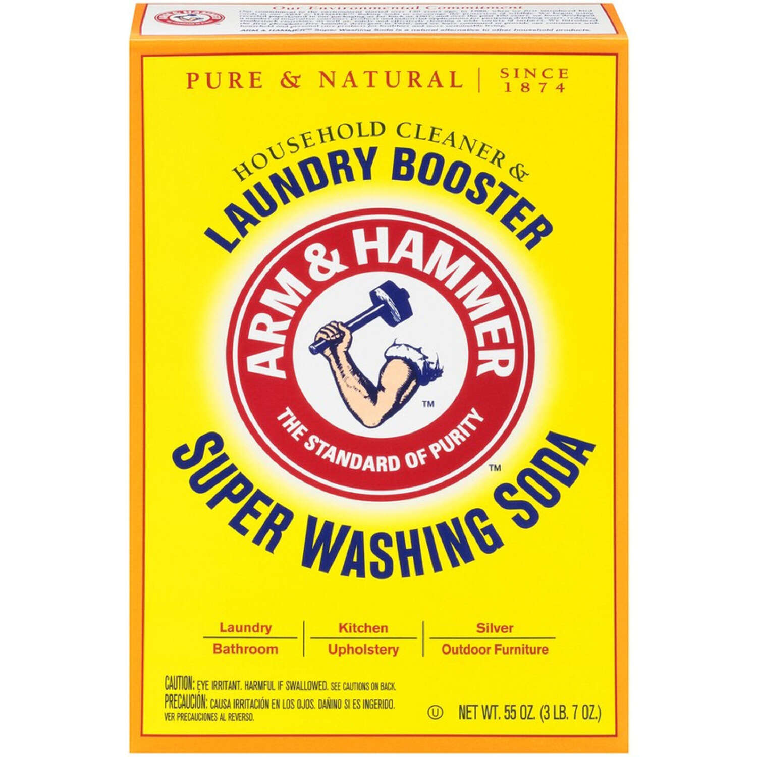 Arm & Hammer Detergent Booster and Household Cleaner Powder 55 oz. 1 pk