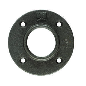 B & K  1 in. FPT   Black  Malleable Iron  Floor Flange