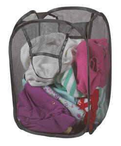 Pop Open  Gray  Duramesh Nylon  Laundry Hamper