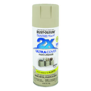 Rust-Oleum  Painter's Touch Ultra Cover  Satin  Fossil  Spray Paint  12 oz.