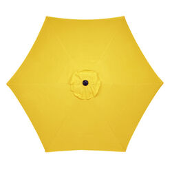 Living Accents 9 ft. Tiltable Yellow Market Umbrella