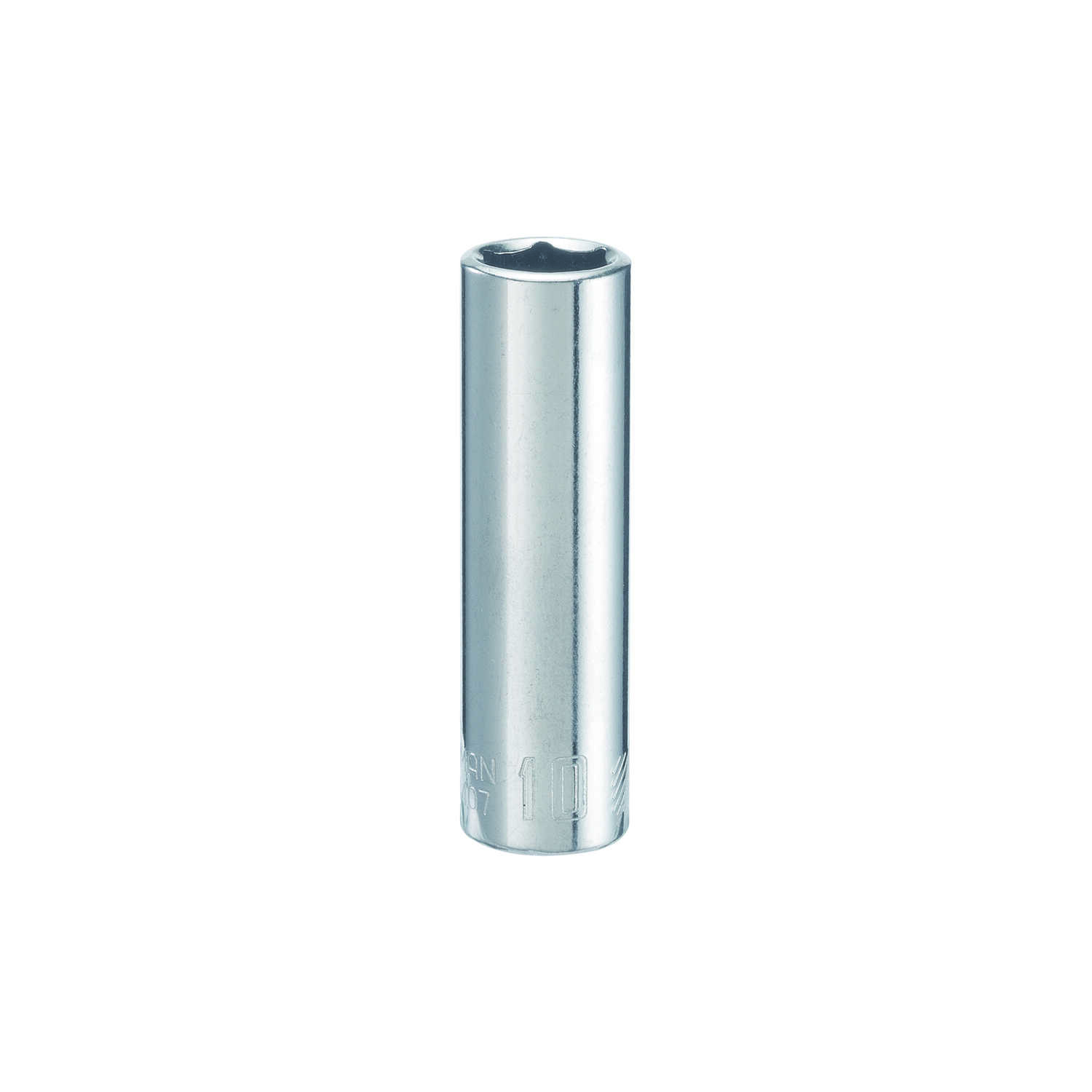 Craftsman  10 mm  x 1/4 in. drive  Metric  6 Point Deep  Socket  1 pc.