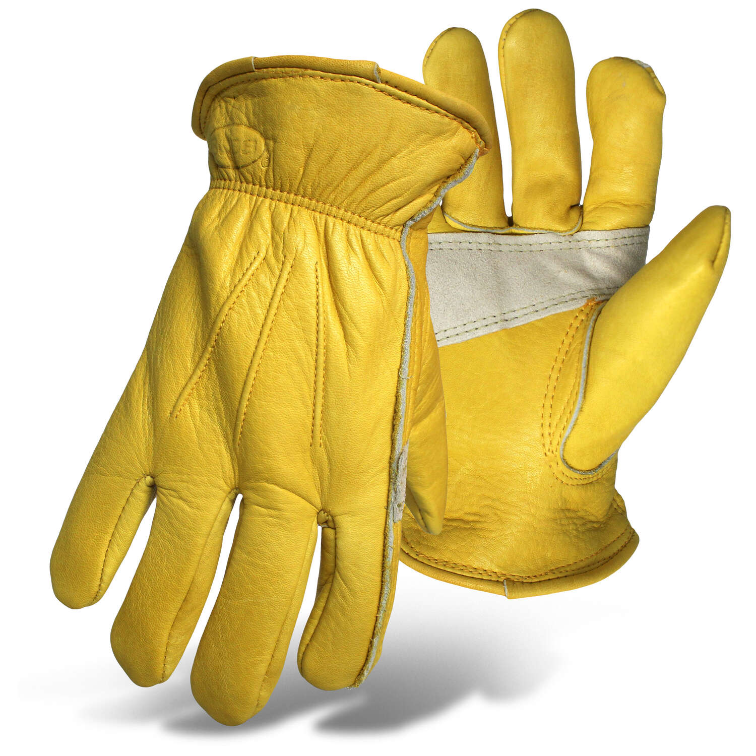 Boss  Therm  Men's  Indoor/Outdoor  Leather  Insulated  Cold Weather Gloves  Yellow  L  1 pair