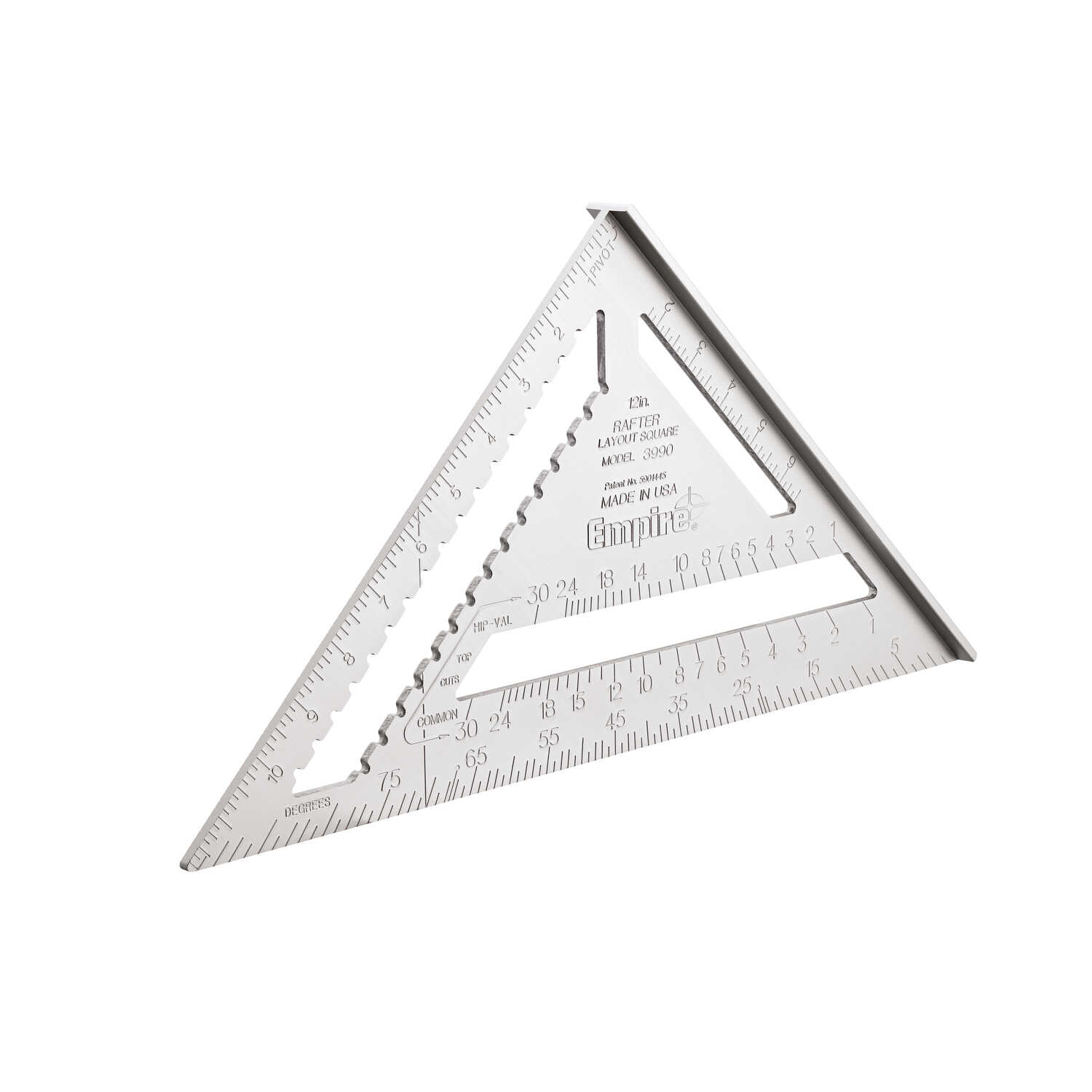 Empire  Magnum  12 in. L x 12 in. H Aluminum  Heavy Duty  Rafter Square  Silver