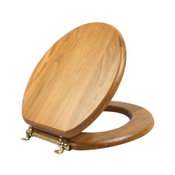 Design House  Dalton  Round  Oak  Wood  Toilet Seat