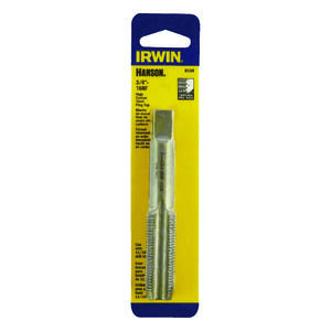 Irwin  Hanson  High Carbon Steel  SAE  Fraction Tap  3/4 in.-16NF  1 pc.