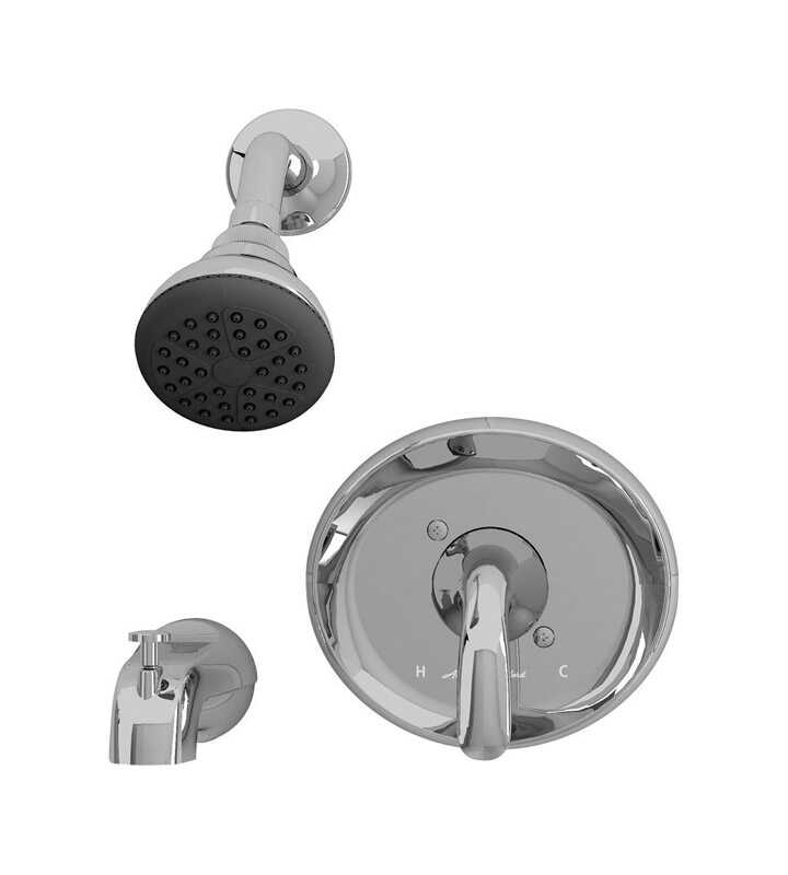 American Standard  Cadet  1 Handle  Tub and Shower Faucet  Polished Chrome  Solid Brass