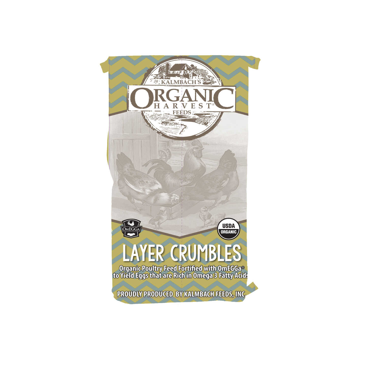 Organic Harvest  Organic Layer Feed  Crumble  For Chickens 40 lb.