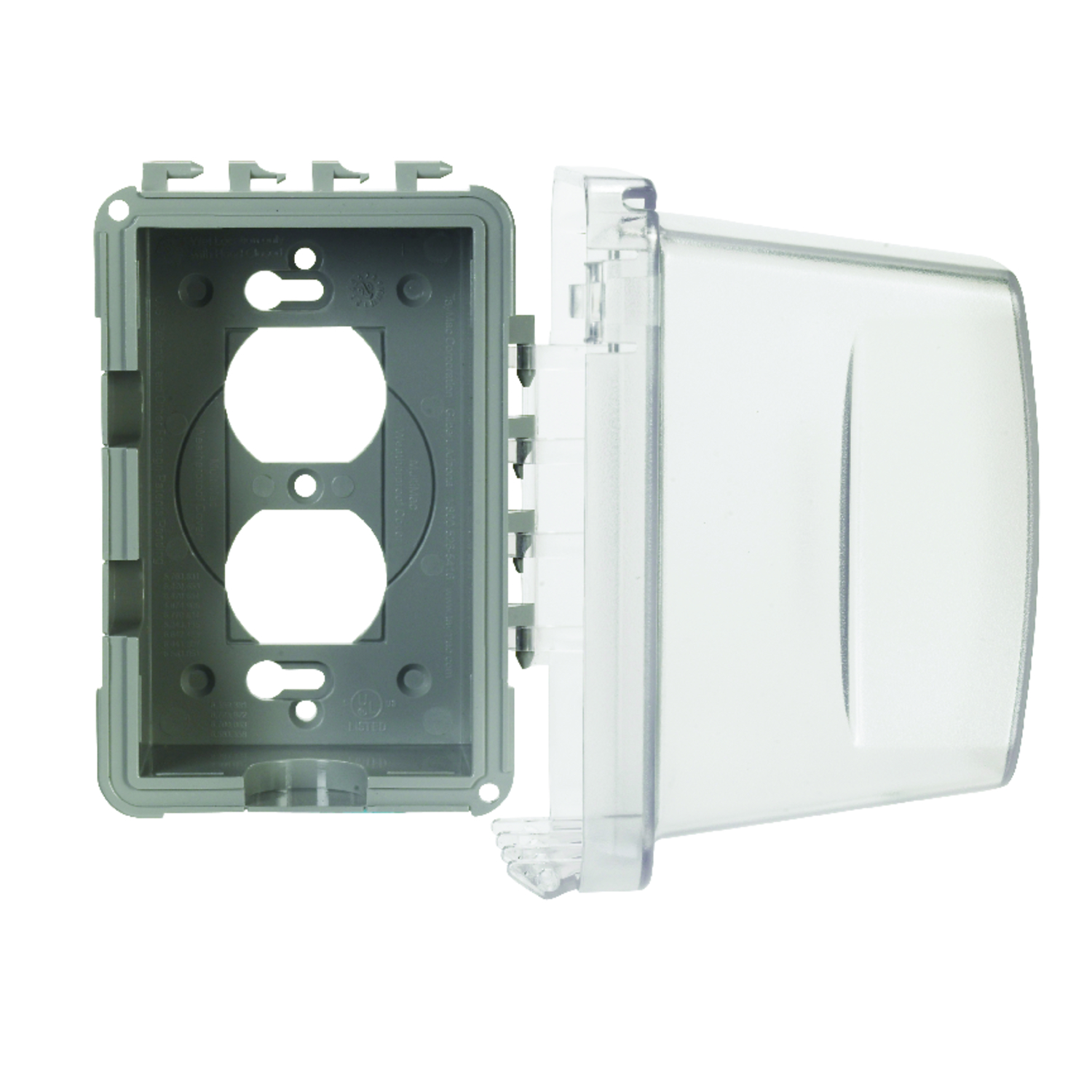 Taymac Rectangle Plastic 1 Gang In Use Cover For Protection From Electrical Fuse Box Weather