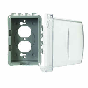TayMac  Rectangle  Plastic  1 gang In-Use Cover  For Protection from Weather