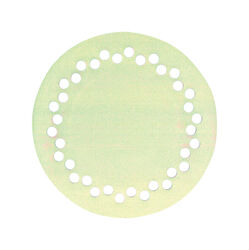 Sioux Chief  7-3/4 in. Natural  PVC  Round  Floor Drain Strainer