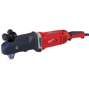 Milwaukee  SUPER HAWG  1/2 in. Keyed  Angled Hole Drill  Corded Angle Drill  13 amps 1750 rpm