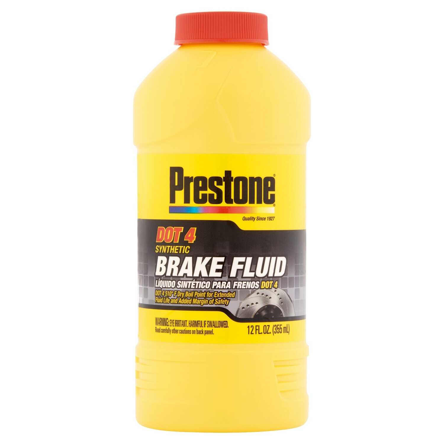Prestone  DOT 4  Brake Fluid  12 oz.