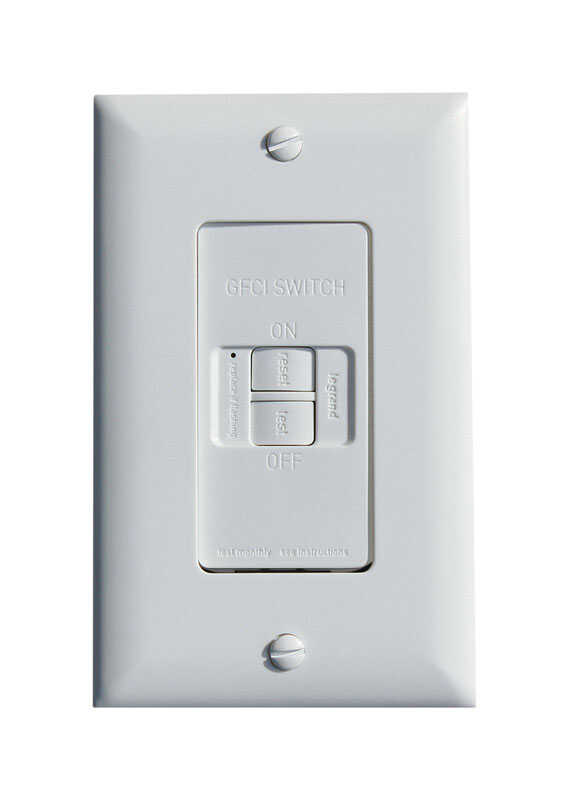 Pass & Seymour  20 amps 125 volt White  GFCI Outlet  5-20R  1 pk