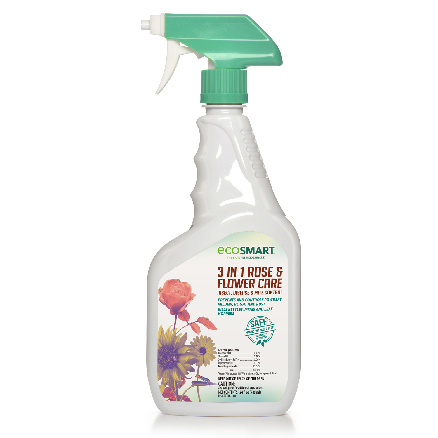 EcoSmart  3-in-1 Rose & Flower Care  Organic Insect, Disease & Mite Control  24 oz.