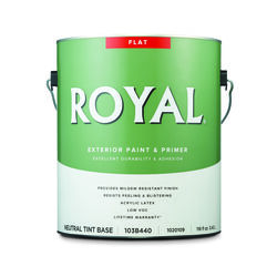Royal  Flat  Tint Base  Neutral Base  Acrylic Latex  Paint and Primer in One  Outdoor  1 gal.