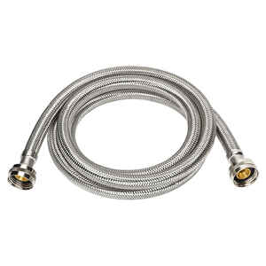 Ace  3/4 in. Hose Thread   x 3/4 in. Dia. Hose Thread  48 in. Braided Stainless Steel  Supply Line