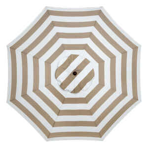 Sunline  Traditional  9 ft. Tiltable Tan Stripe  Market Umbrella