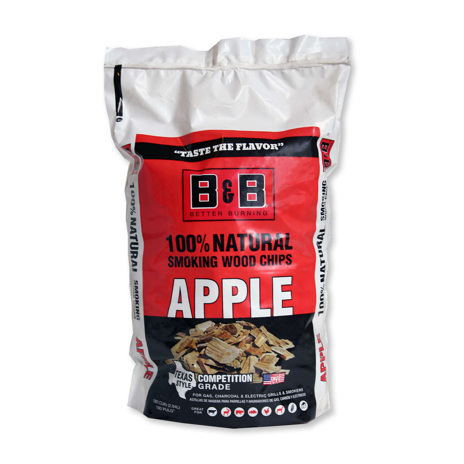 B&B  Apple  Wood Smoking Chips  180 cu. in.
