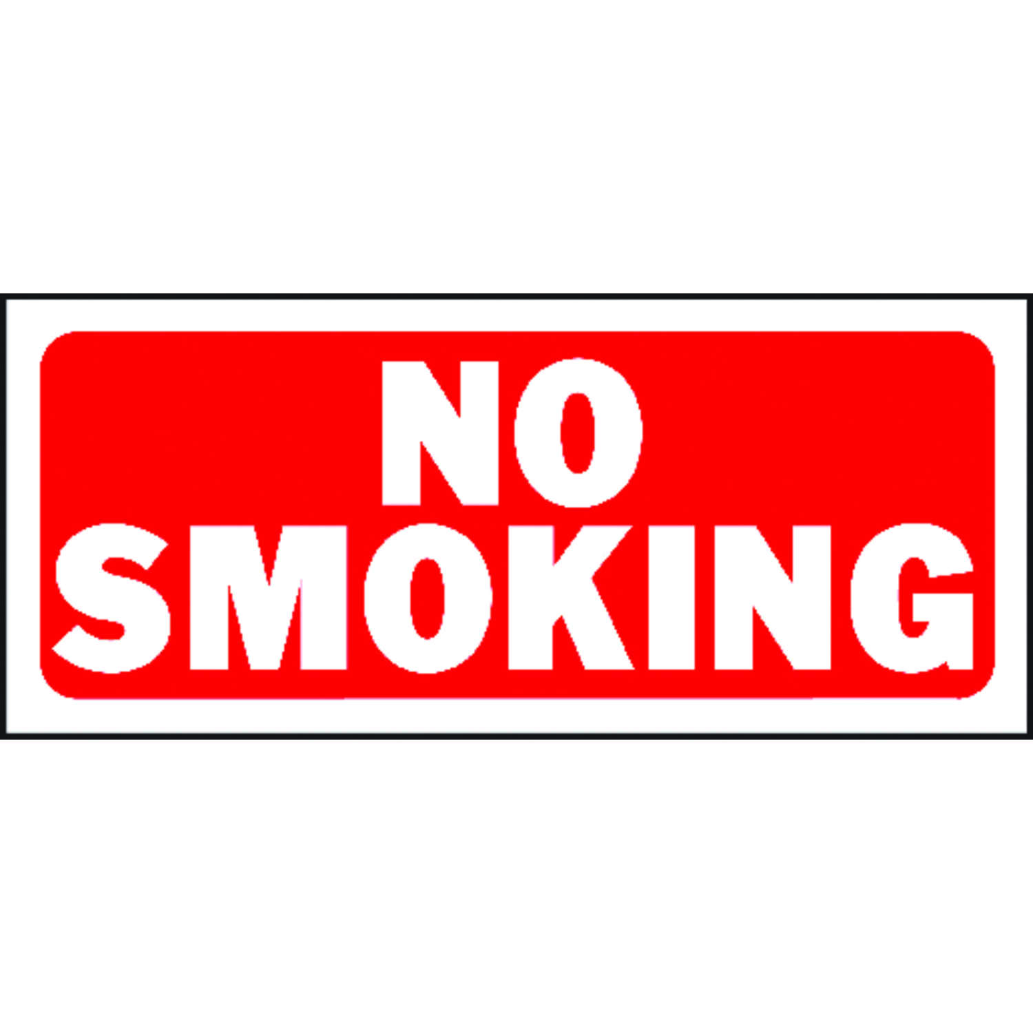 Hy-Ko  English  No Smoking  6 in. H x 14 in. W Plastic  Sign