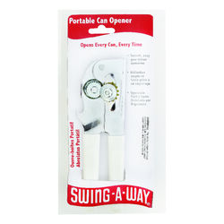 Swing-A-Way  White  Steel  Manual  Can Opener