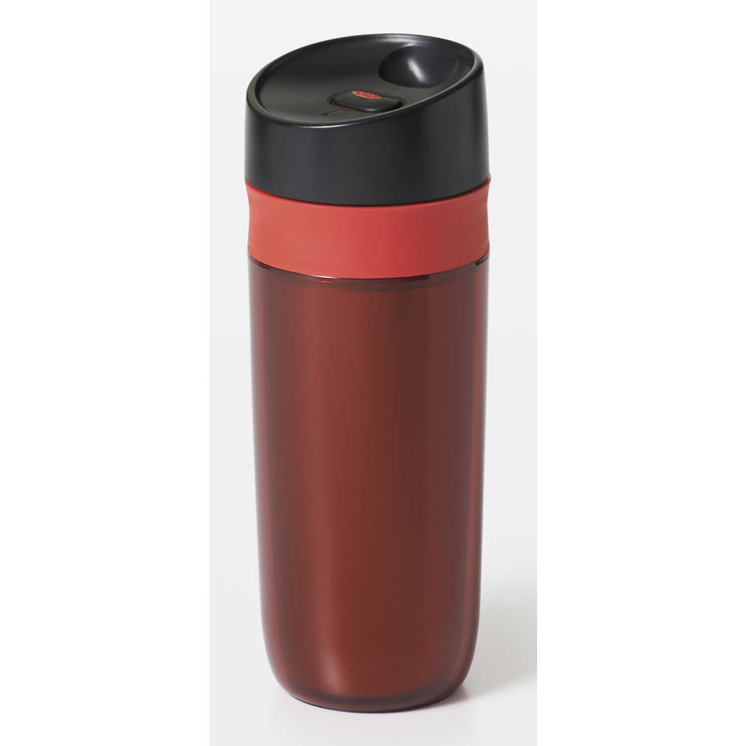 OXO  Good Grips  Red  Plastic  Travel Mug  15 oz.