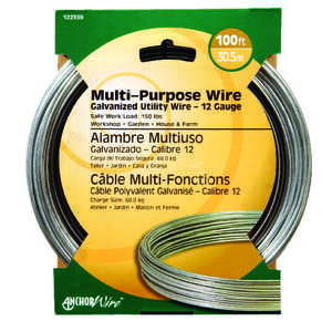 HILLMAN  0.101 - 0.106 in. Dia. x 100 ft. L Galvanized  Steel  12 Ga. Wire