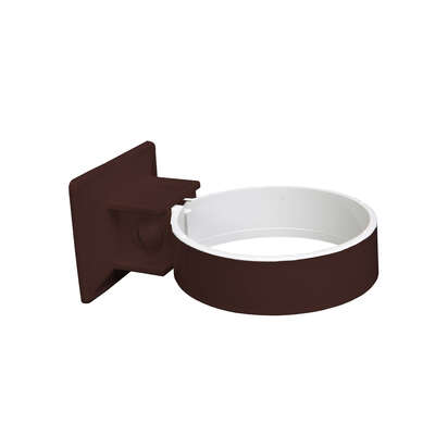 Plastmo  Classic  2.5 in. W Brown  Vinyl  Downspout Bracket
