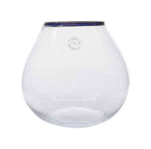 Decoris  None Scent Clear  Accent  Candle Holder  8-1/2 in. H x 9-1/2 in. Dia.