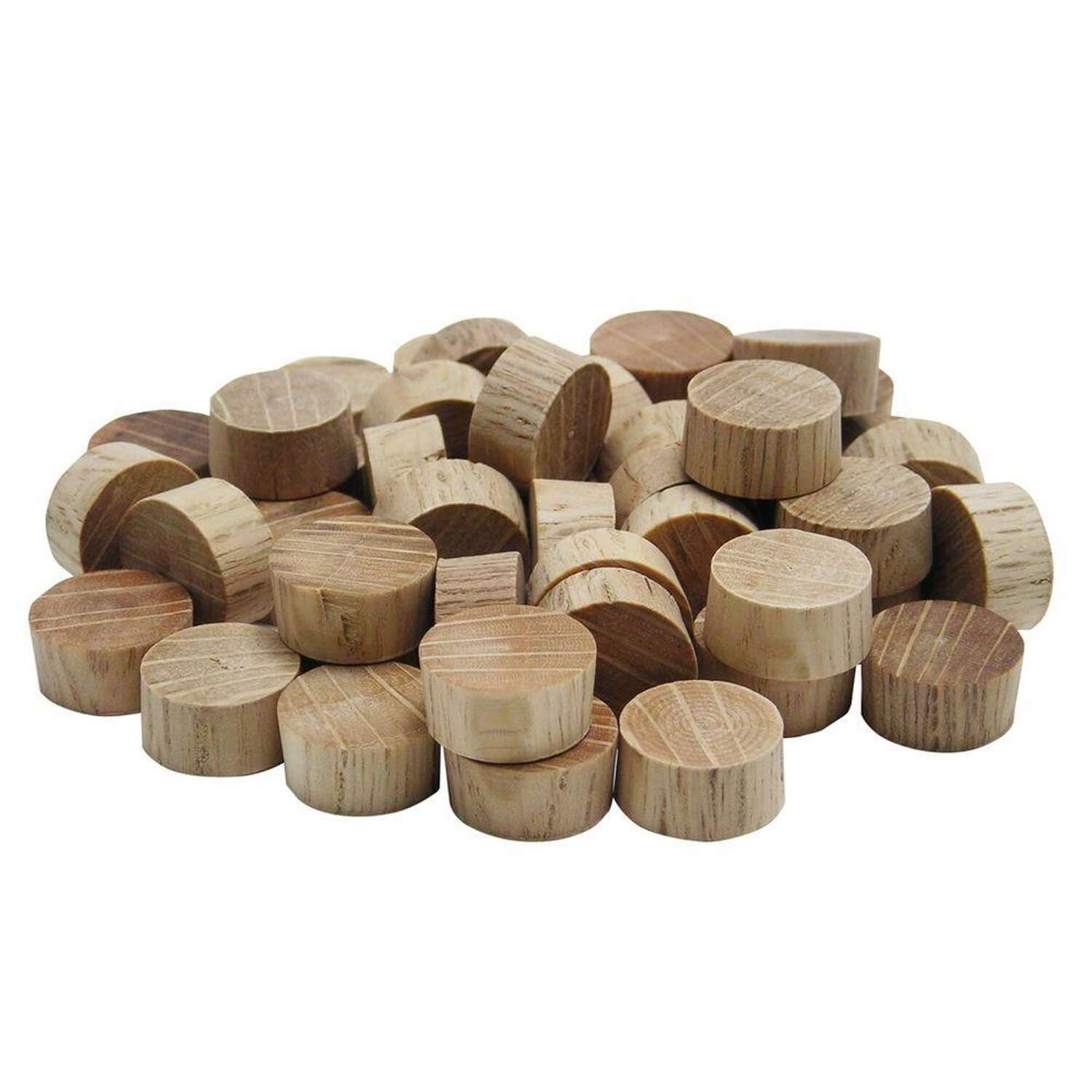 Wolfcraft  Flat  Oak  Flat Head Plug  1/2 in. Dia. x 1/4 in. L 25 pk Natural