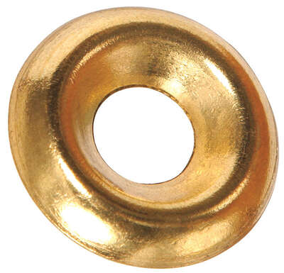 Hillman  Brass-Plated  Brass  .215 in. Countersunk Finish Washer  100 pk