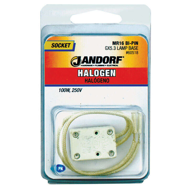 Jandorf  Bi-Pin  Porcelain  Socket  1  Halogen