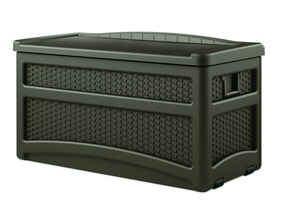 Suncast  Resin  25-1/2 in. H x 46 in. W x 23-5/8 in. D Brown  Deck Box with Seat