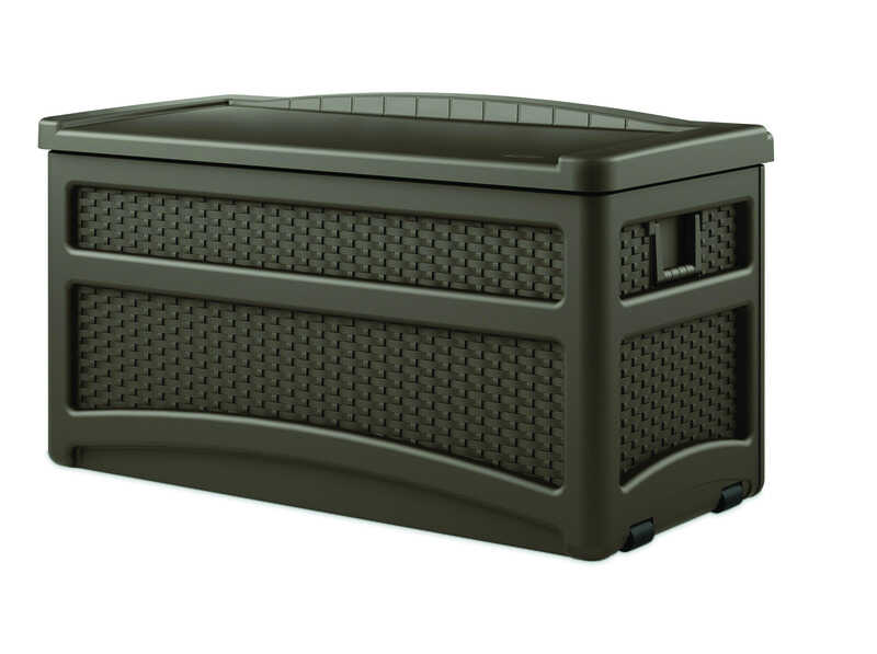 Suncast  Plastic  25-1/2 in. H x 23 in. W Brown  Deck Box and Seat