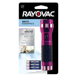 Rayovac  Brite Essentials  9 lumens Magenta  LED  UV Black Light  AAA Battery