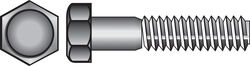 Hillman  5/16 in. Dia. x 3/4 in. L Zinc Plated  Steel  Hex Bolt  100 pk