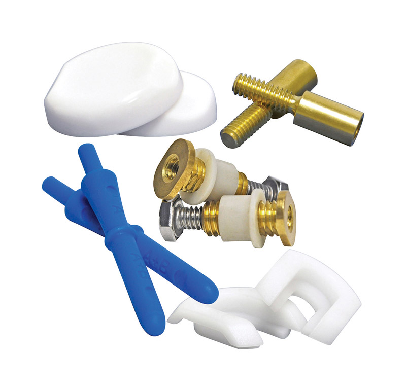 Danco  Next  Toilet Bolts and Caps  3 in. H x 1-1/8 in. L Brass